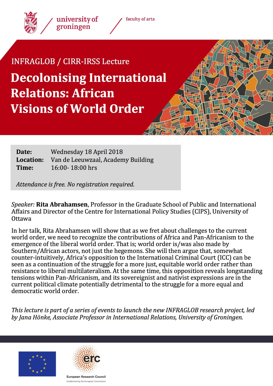 INFRAGLOB Lecture_Rita Abrahamsen_18Apr18